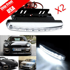 2PC 8 LED Daytime Driving Running Light DRL Car Fog Lamp Waterproof DC 12V USA