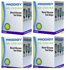 Prodigy Autocode Blood Glucose Test Strips 4 boxes of 50 (EXP:03/2019+)