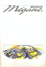 Renault Megane concept car 1988 full Press Kit brochure - photos slides more!