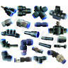 Pneumatic Push Fit Connectors Sizes 4mm 6mm 8mm 10mm 12mm Elbow Straight Cross