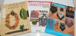 Lot of 3 Books on Seed Beading Beads Jewelry Making Patterns Projects