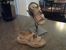 Womens HOTTER Comfort Concept YASMINE Beige Strap Sandals Size 6.5 EXCELLENT