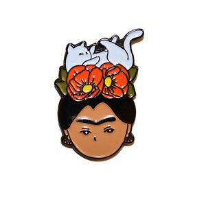 Frida Kahlo Enamel Pin - Lapel Pin - Feminist Pin - Brand New - Ships from U.S.!