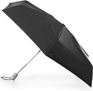 totes Auto Open Auto Close Water-Resistant Mini Umbrella Sun Protection BLK  NEW