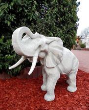 Gartenfiguren, Elefant, Steinguss, 67 cm, Skulpturen, Steinfiguren, Gartendeko
