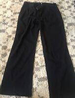 Eileen Fisher $178 Black Organic Cotton Gauze Straight Leg Pants Large