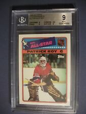 PATRICK ROY 1988-89 Topps Sticker Inserts #12 BGS MINT 9 Canadiens