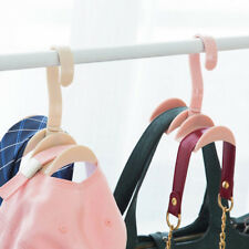 Closet Organizer Rod Hanger Handbag Storage Purse Hanging Rack Holder Hook Bag a Green
