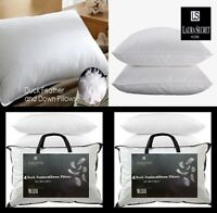 Duck Feather & Down Pillows Comfortable Extra Filled Hotel Quality PACK Of 2 New