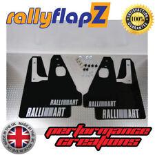 rallyflapZ MITSUBISHI EVO 10 (07-16) Mud Flaps Kit - Black Logo Silver 4mm PVC