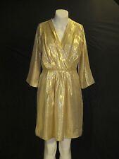 Metallic Gold dress 100% pure silk