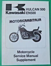 KAWASAKI VULCAN 500 EN500 SUPPLEMENTO MANUALE OFFICINA MANUAL SERVICE SUPPLEMENT