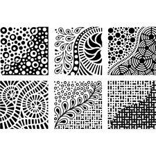 """Cedar Canyon Textiles Artist's Paintstiks Rubbing Plates 7.125""""x7.125"""" -"""