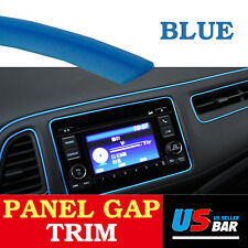 10Feet Gap Trim Line Blue Molding Garnish Strip For Car Accessory Interior Edge