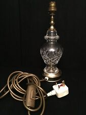 """Waterford Crystal Lismore Small Electric Bedside Lamp Signed Height ~ 12"""""""