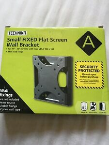 "Small Fixed Flat Screen Wall Bracket ( for 10""-23"" )"