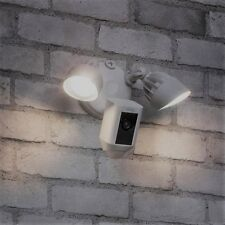 White Ring Outdoor Wi Fi Cam Motion Activated Floodlight Water Resistant