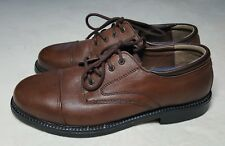 Mens MERONA Brown Leather Lace Up Shoes Size 8.5