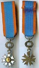 Médaille -Education civique en réduction émail ancien
