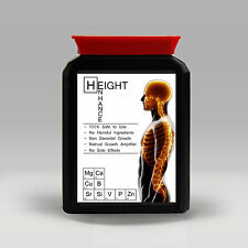 HEIGHT ENHANCE - GROWTH PILLS - GROW TALLER ENHANCER - 60 PILLS / TABLETS