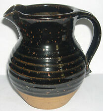 Molly Perry Studio Pottery - Attractive Jug with Mottled Glazing (1972 - 1983).