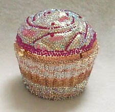 Pink GoldAB Cupcake Shaped ~Handmade Austria Crystal 3D Shaped Cocktail Bag