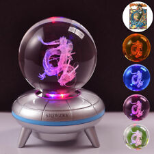Dragon Ball Z Son Goku Crystal Pokeball 3D LED Night Light Table Desk Lamp Gift