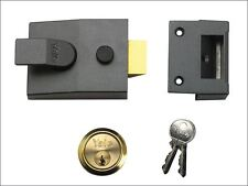 Yale Locks - Deadlock Nightlatch 60mm Backset Finish Satin Chrome Cylinder Visi