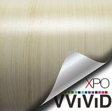 """VViViD White Maple 1ft x 48"""" Wood Grain Architectural Wrap Vinyl Film DIY Decor"""