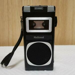 National RQ-175 Micro Cassette Recorder Player Black TESTED Working Japan MU0090