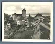 Suisse, Morat (Murten), Les Remparts de l'Ouest  Vintage silver print. Swit