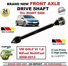 FOR VW GOLF VI 1.6 BiFuel MultiFuel 2008-2013 1x NEW FRONT AXLE RIGHT DRIVESHAFT
