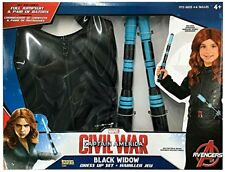 DISNEY MARVEL AVENGERS BLACK WIDOW HALLOWEEN DRESS UP COSTUME & BATONS LOT 4 5 6