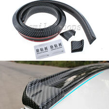 Flexible 1.5M Carbon Fiber Car Rear Roof Tail Fin Empennage Spoiler Wing Lip