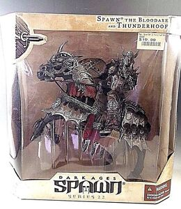 McFARLANE DARK AGES SPAWN THE BLOODAXE & THUNDERHOOF DELUXE BOXED SET SERIES 22