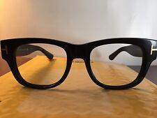 Black Tom Ford $395 RX Prescription Frame eyeglasses men's women's plastic nerdy