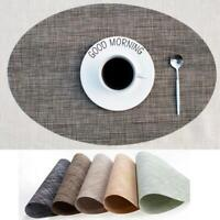 Non-slip Place-mats Modern Coasters Dining Table Plate Pads Oval Shape Tableware