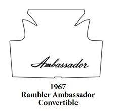 1967 AMC Ambassador Convertible Trunk Rubber Floor Mat Cover w/ A-003 Ambassador