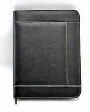 Ecco Black Faux Leather Letter Sized Notepad Zipper Portfolio Document Organizer