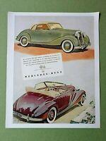 Nostalgisches Plakat / Kunstdruck: MERCEDES BENZ CABRIO Werbung Hochglanz