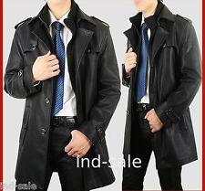 Custom Made All Size Genuine Blazer LEATHER JACKET EDH Pea Coat Designer