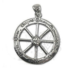 Dryad Designs Sterling Silver Cut Out Wheel of the Year Pendant