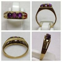 Amethystring Goldring  mit Amethyst 333er Gold Ring