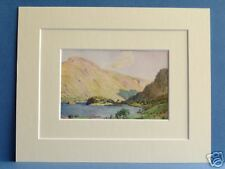 THIRLMERE HELVELLYN CUMBRIA VINTAGE DOUBLE MOUNTED PRINT 1908 HEATON COOPER 10X8