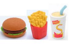IWAKO Burger, Fries & Milk Shake Puzzle Rubber Erasers