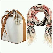 Trussardi Woman's Crossbody Designer Handbag With a FREE Scarf