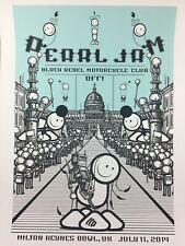 Pearl Jam - 2014 The London Police poster Milton Keynes, Uk Milton Keynes Bowl