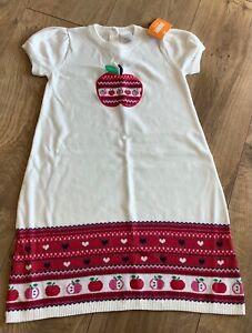 Gymboree Girl Sweater Dress Size 8 White Candy Apple New