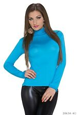 Sexy Miss Damen Langarm Shirt Rollkragen Volant Rüschen TOP Rolli 34/36/38 NEU