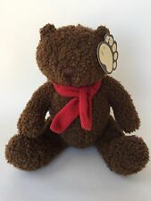 Gap Kids Limited Edition Bear Plush Brown Red Scarf New W Tags Sewn Eyes Holiday